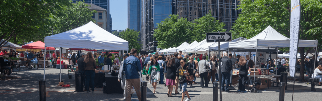 Market Square Farmers Market in Downtown Pittsburgh