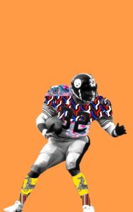 Image of Franco Harris for the Downtown Renown project