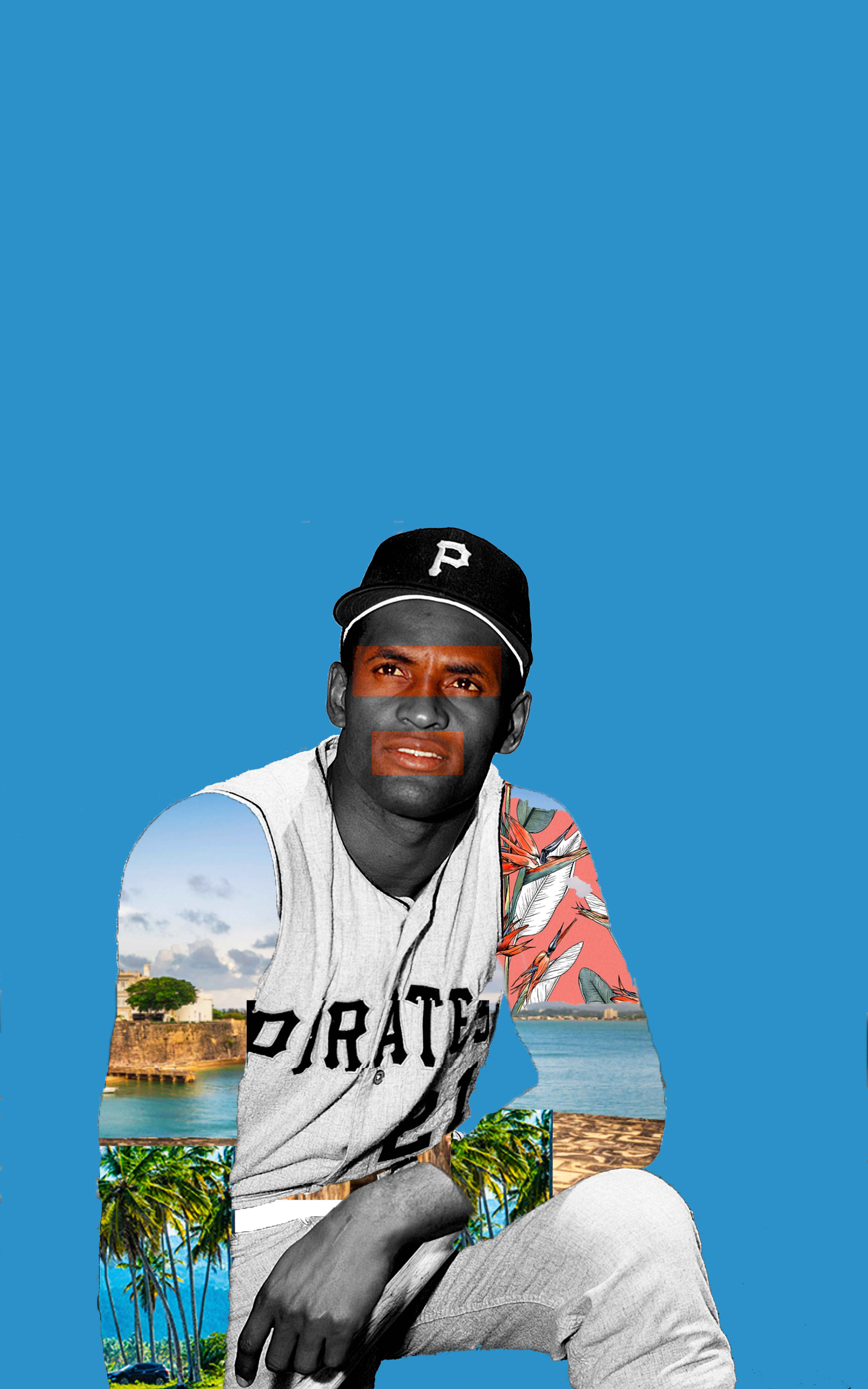 Image of Roberto Clemente for the Downtown Renown project
